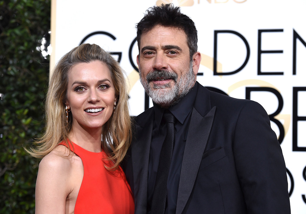. Hilarie Burton, left, and Jeffrey Dean Morgan arrive at the 74th annual Golden Globe Awards at the Beverly Hilton Hotel on Sunday, Jan. 8, 2017, in Beverly Hills, Calif. (Photo by Jordan Strauss/Invision/AP)