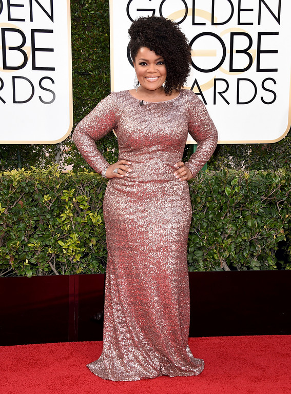 . Yvette Nicole Brown arrives at the 74th annual Golden Globe Awards at the Beverly Hilton Hotel on Sunday, Jan. 8, 2017, in Beverly Hills, Calif. (Photo by Jordan Strauss/Invision/AP)