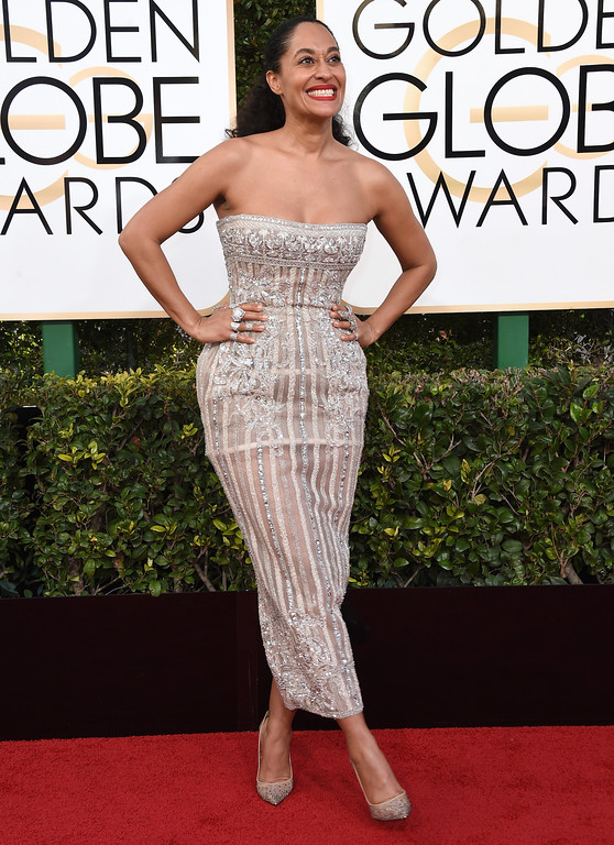 . Tracee Ellis Ross arrives at the 74th annual Golden Globe Awards at the Beverly Hilton Hotel on Sunday, Jan. 8, 2017, in Beverly Hills, Calif. (Photo by Jordan Strauss/Invision/AP)