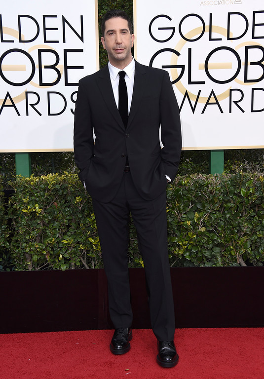 . David Schwimmer arrives at the 74th annual Golden Globe Awards at the Beverly Hilton Hotel on Sunday, Jan. 8, 2017, in Beverly Hills, Calif. (Photo by Jordan Strauss/Invision/AP)