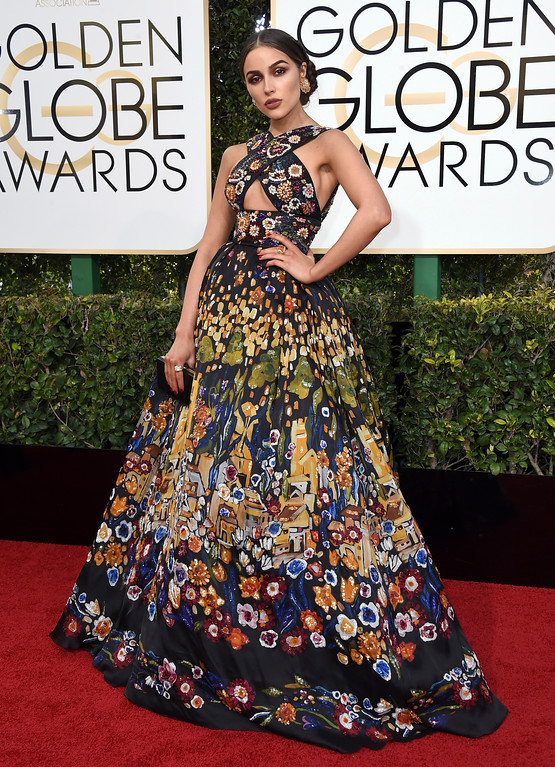 . Olivia Culpo arrives at the 74th annual Golden Globe Awards at the Beverly Hilton Hotel on Sunday, Jan. 8, 2017, in Beverly Hills, Calif. (Photo by Jordan Strauss/Invision/AP)