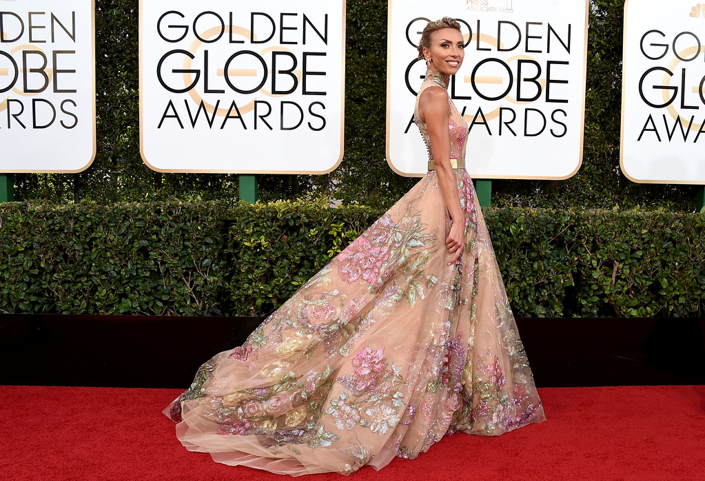 . Giuliana Rancic arrives at the 74th annual Golden Globe Awards at the Beverly Hilton Hotel on Sunday, Jan. 8, 2017, in Beverly Hills, Calif. (Photo by Jordan Strauss/Invision/AP)