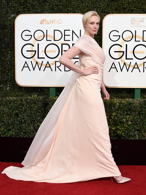 . Gwendoline Christie arrives at the 74th annual Golden Globe Awards at the Beverly Hilton Hotel on Sunday, Jan. 8, 2017, in Beverly Hills, Calif. (Photo by Jordan Strauss/Invision/AP)