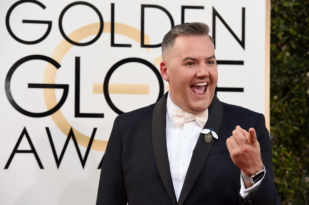 . Ross Mathews arrives at the 74th annual Golden Globe Awards at the Beverly Hilton Hotel on Sunday, Jan. 8, 2017, in Beverly Hills, Calif. (Photo by Jordan Strauss/Invision/AP)