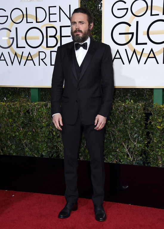. Casey Affleck arrives at the 74th annual Golden Globe Awards at the Beverly Hilton Hotel on Sunday, Jan. 8, 2017, in Beverly Hills, Calif. (Photo by Jordan Strauss/Invision/AP)