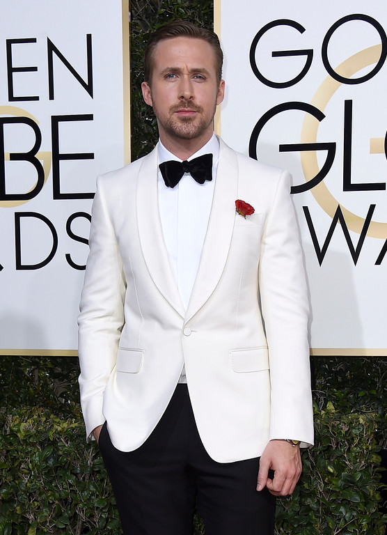 . Ryan Gosling arrives at the 74th annual Golden Globe Awards at the Beverly Hilton Hotel on Sunday, Jan. 8, 2017, in Beverly Hills, Calif. (Photo by Jordan Strauss/Invision/AP)