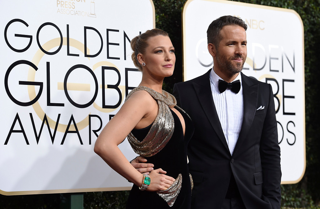 . Blake Lively, left, and Ryan Reynolds arrive at the 74th annual Golden Globe Awards at the Beverly Hilton Hotel on Sunday, Jan. 8, 2017, in Beverly Hills, Calif. (Photo by Jordan Strauss/Invision/AP)
