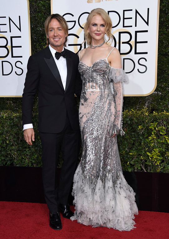 . Keith Urban, left, and Nicole Kidman arrive at the 74th annual Golden Globe Awards at the Beverly Hilton Hotel on Sunday, Jan. 8, 2017, in Beverly Hills, Calif. (Photo by Jordan Strauss/Invision/AP)