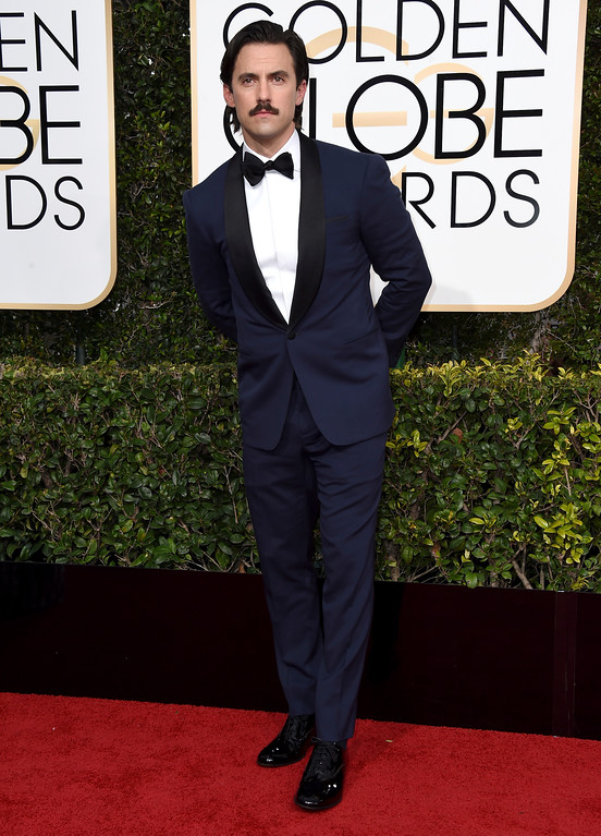 . Milo Ventimiglia arrives at the 74th annual Golden Globe Awards at the Beverly Hilton Hotel on Sunday, Jan. 8, 2017, in Beverly Hills, Calif. (Photo by Jordan Strauss/Invision/AP)