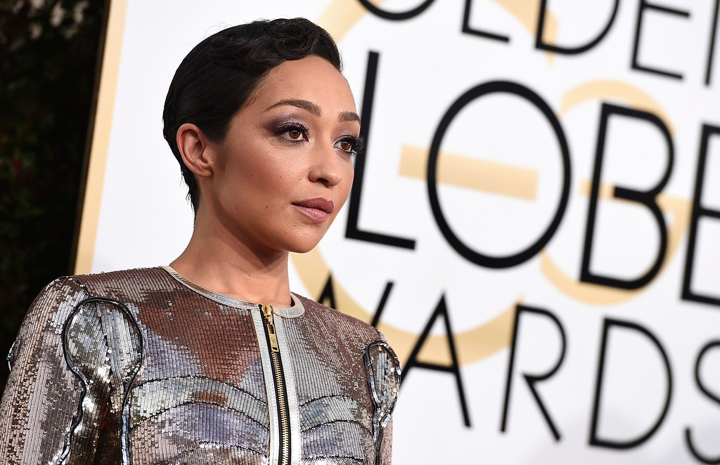 . Ruth Negga arrives at the 74th annual Golden Globe Awards at the Beverly Hilton Hotel on Sunday, Jan. 8, 2017, in Beverly Hills, Calif. (Photo by Jordan Strauss/Invision/AP)