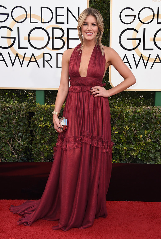 . Renee Bargh arrives at the 74th annual Golden Globe Awards at the Beverly Hilton Hotel on Sunday, Jan. 8, 2017, in Beverly Hills, Calif. (Photo by Jordan Strauss/Invision/AP)