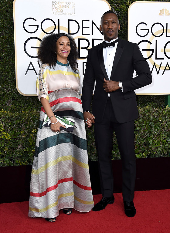 . Amatus Sami-Karim, left, and Mahershala Ali arrive at the 74th annual Golden Globe Awards at the Beverly Hilton Hotel on Sunday, Jan. 8, 2017, in Beverly Hills, Calif. (Photo by Jordan Strauss/Invision/AP)
