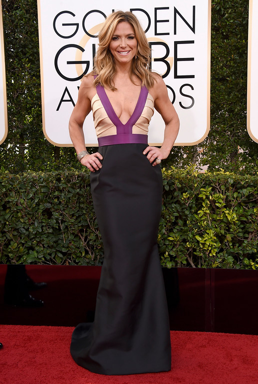 . Debbie Matenopoulos arrives at the 74th annual Golden Globe Awards at the Beverly Hilton Hotel on Sunday, Jan. 8, 2017, in Beverly Hills, Calif. (Photo by Jordan Strauss/Invision/AP)