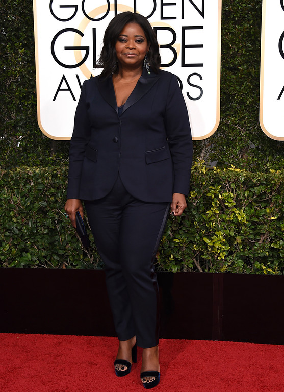. Octavia Spencer arrives at the 74th annual Golden Globe Awards at the Beverly Hilton Hotel on Sunday, Jan. 8, 2017, in Beverly Hills, Calif. (Photo by Jordan Strauss/Invision/AP)