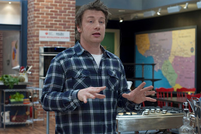 British Chef Jamie Oliver, once known as The Naked Chef speaks at press conference at Jamie's Kitchen in Westood, Los Angeles, CA to discuss the second season of the Emmy Award winning television series, Jamie Olvier's Food Revolution on January 12, 2011