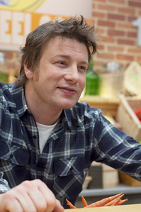 JOliver_011211_1074w British Chef Jamie Oliver, once known as The Naked Chef holds a press conference at Jamie's Kitchen in Westood, Los Angeles, CA to discuss the second season of the Emmy Award winning television series, Jamie Olvier's Food Revolution on January 12, 2011