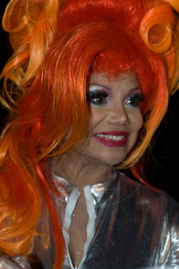 LaToya Jackson signs autographs after serving milkshakes to benefit APLA at the Millions of Milkshakes Store in West Hollywood, CA on Halloween, 10/31/2009