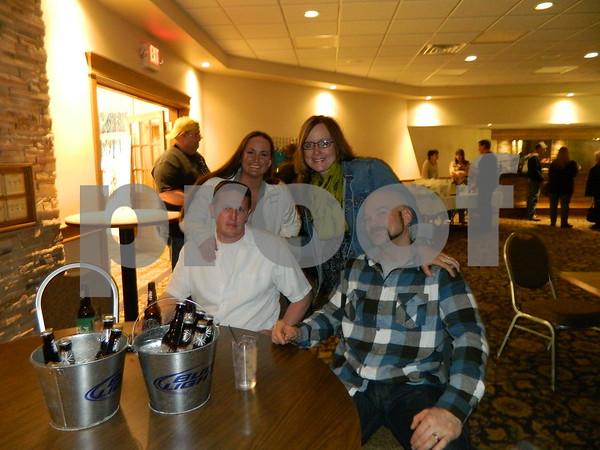 Right to left: Jeffrey Halter, Rochelle Green, Jason Raymond and Kelly Raymond