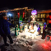 KRISTOPHER RADDER - BRATTLEBORO REFORMER<br /> Ron Stone, of 19 Atwood Street, look over his light display.