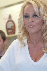Pam Anderson, animal rights activist, pin-up girl, actress, model, celebrity and Dancing With The Stars contestant, introduces a new vegan milkshake at Millions of Milkshakes in West Hollywood, CA 04/09/2010