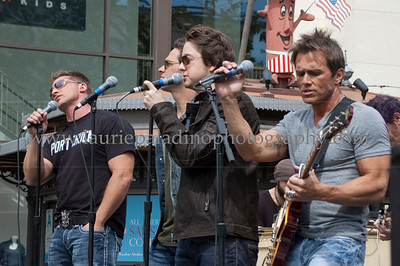 PortChuck_040711_1014w The Port Chuck Band performs live at The Grove outdoor mall as part of EXTRA! television show. ABC TV's daytime soap General Hospital actors l-r  Steve Burton, Brandon Barash, Bradford Anderson and Scott Reeves perform as the band Port Chuck named after the fictional city Port Charles in which the show General Hospital is based.  All Rights Reserved. No usage of any kind without written permission from www.lauriepaladinophotography.com Unauthorized usage subject to credit to ©Laurie Paladino and compensation to www.lauriepaladinophotography.com
