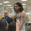 "RB_lp_050120009_1004<br /> A fan takes a camera phone photo of British comic, actor and author Russell Brand at his Barnes and Noble Los Angeles CA book signing appearance to promote his UK best-selling memoir, ""My Booky Wook"" which was recently released in the United States."
