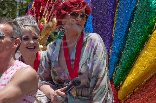 Sharon Osbourne and her daughter Kelly serve as the Grand Marshalls at The 40th Annual Los Angeles Pride Parade takes place on Santa Monica Boulevard in West Hollywood, CA June 13, 2010