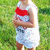 Diane Raver | The Herald-Tribune<br /> Nora Knollman, 15 months, Oldenburg, was decked out in red, white and blue.