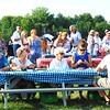 Diane Raver | The Herald-Tribune<br /> Sponsors were seated at picnic tables in front of the stage.
