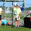 Diane Raver | The Herald-Tribune<br /> While Dogger Dickey (center), sponsorship lead, thanks all the sponsors who helped make this event possible, Amy Streator (left), Ripley County Community Foundation executive director, and Joe Raver, Hillenbrand president and chief executive officer, listen.