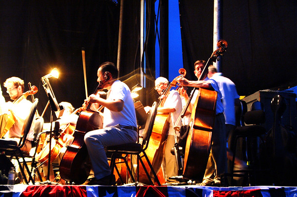 Debbie Blank | The Herald-Tribune<br /> ISO musicians playing cellos and basses were located stage left (on the right side to spectators).