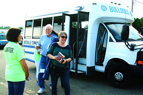 Debbie Blank | The Herald-Tribune<br /> Shuttle bus service was offered from several points around Batesvile to the soccer park.