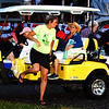 Debbie Blank | The Herald-Tribune<br /> Super volunteer Carolyn Dieckmann shuttled some senior citizens to the performance after the rain delay.