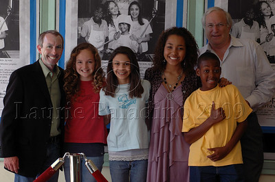 "Iake Eissinmann, Kenall Ganey, Anne Marie Aksell, Parker McKenna Posey, RG Fleuridor and Gary Gladman at""The Chefsters"" Los Angeles Press Screening 03/01/2009"