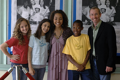 "Kenall Ganey,Anne Marie Askell,  Parker McKenna Posey, RG Fleuridor and Iake Eissinmann at ""The Chefsters"" Los Angeles Press Screening 03/01/2009"