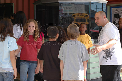 "Cast members greet LAUSD students at ""The Chefsters"" Los Angeles Press Screening 03/01/2009"