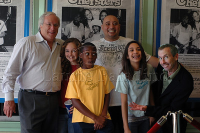 "Gary Gladman, Kenall Ganey, RG Fleuridor, Anne Marie Askell,Alex Ortiz and Iake Eissinmann at ""The Chefsters"" Los Angeles Press Screening 03/01/2009"