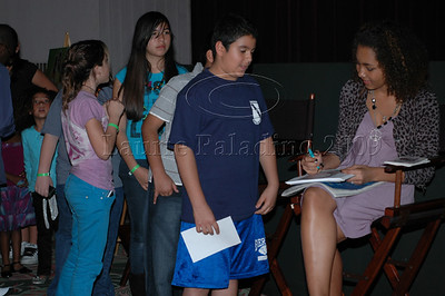 "Actress Parker McKenna Posey signs autographs for LAUSD students at ""The Chefsters"" Los Angeles Press Screening 03/01/2009"