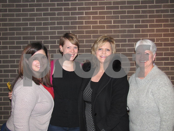 """The family of Courtney Skeens came to watch her perform in """"All Shook Up"""".  They are Katelyn Skeens, Brittany Olker, and Kathy Skeens with friend Kari Suhrbier"""