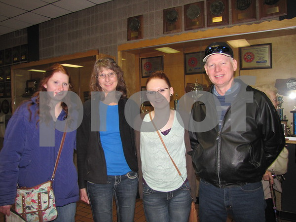 "The family of Sarah, Ramona, Jenna, and Greg Kraft attended the ICCC production of ""All Shook Up""."