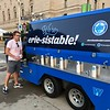 Mark Meszoros --- The News-Herald<br /> Staying hydrated at a summer music festival is key, and InCuya offered this free station.