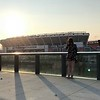 Mark Meszoros -- The News-Herald<br /> Even from this deck with a view of FirstEnergy Stadium, you could hear the musical acts perform.
