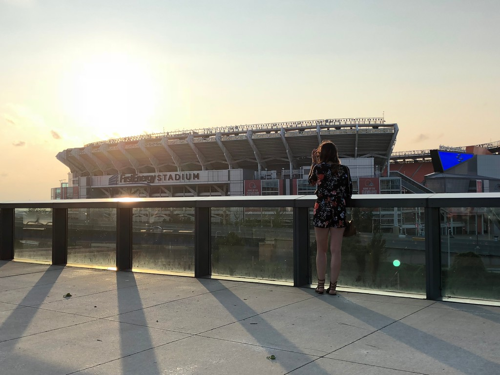 . Mark Meszoros -- The News-Herald Even from this deck with a view of FirstEnergy Stadium, you could hear the musical acts perform.