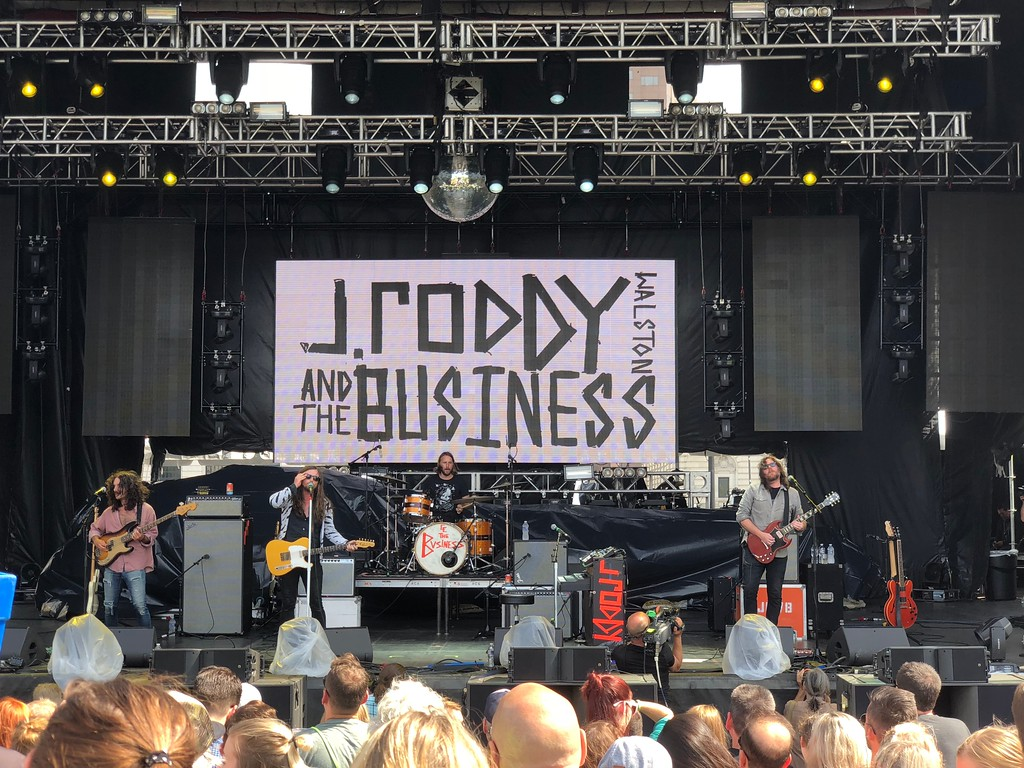 . Mark Meszoros -- The News-Herald J Roddy Walston And The Business offered a fun slice of Sourthern-fried rock in a mid-afternoon slot on the larger City Stage at the InCuya Music Festival Aug. 25.