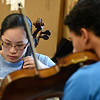 Kayla Rice/Reformer<br /> Elena Ariza rehearses at Greenwood School in Putney with the Yellow Barn Young Artists Program on June 20th.