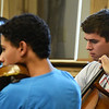 Kayla Rice/Reformer<br /> Daniel Tavani (cello) and Jordan Bak (violin) rehearse at Greenwood School in Putney with the Yellow Barn Young Artists Program on June 20th.