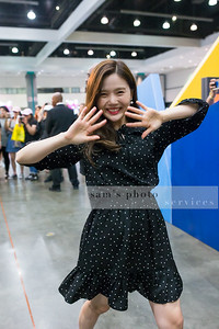 "HyoJung Choi of the South Korean girl group ""Oh My Girl"" at KCON LA 2017"