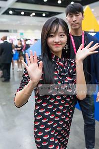 """Yooa of the South Korean girl group """"Oh My Girl"""" at KCON LA 2017"""