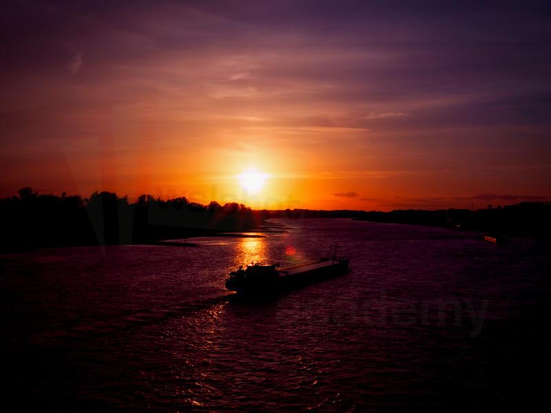 Barge on the Rhine