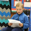 Priest Street School has partnered with the United Way and AIS Corporation to start a mentorship literacy program that will start in September for the 2017 /18 school year. Kindergartner Matthew Delrio read a story he wrote to the guest from the United Way and AIS during their visit on Tuesday to talk about the new partnership. SENTINEL & ENTERPRISE/JOHN LOVE